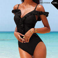 2016 New Push Up Swimwear Women Bathing Suit One Piece Swimsuit Solid Swimming Suit For Women