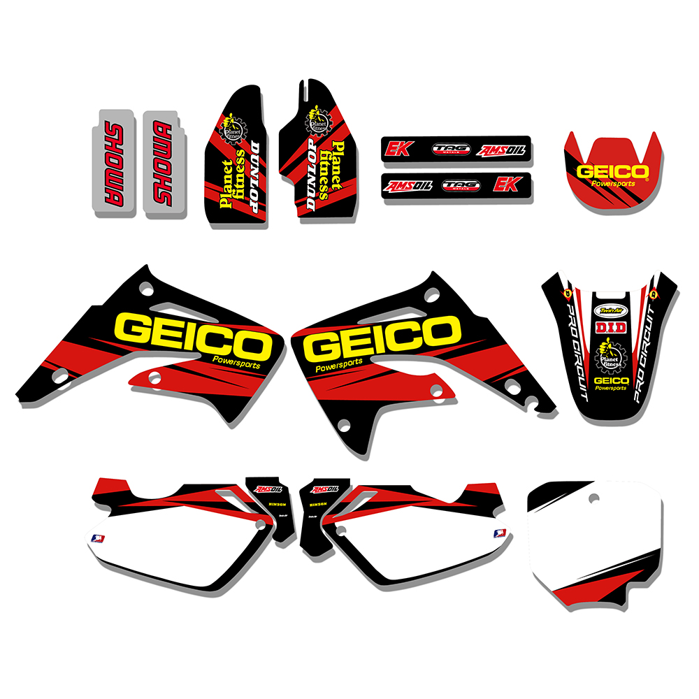 Motorcycle Decals Stickers Graphics For Honda CR85R CR85 CR 85 85R 2003 2004 2005 2006 2007 2008 2009 2010 2011 2012