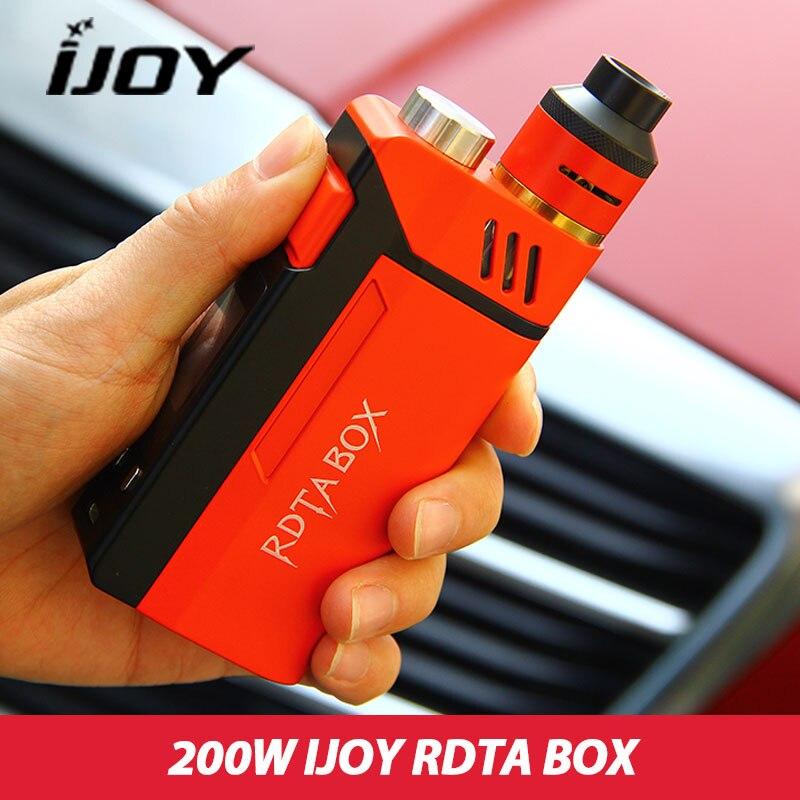 Originele IJOY RDTA DOOS 200W Kit 12.8ml Capaciteit Elektronische Sigaret Kit NI/TI/SS Met IMC Building Dek In Voorraad
