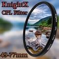 KnightX Polarisator 49mm 52mm 58mm 67mm 77mm cpl Filter voor Canon 650D 550D Nikon Sony DSLR SLR camera Lenzen lens d5200 d3300