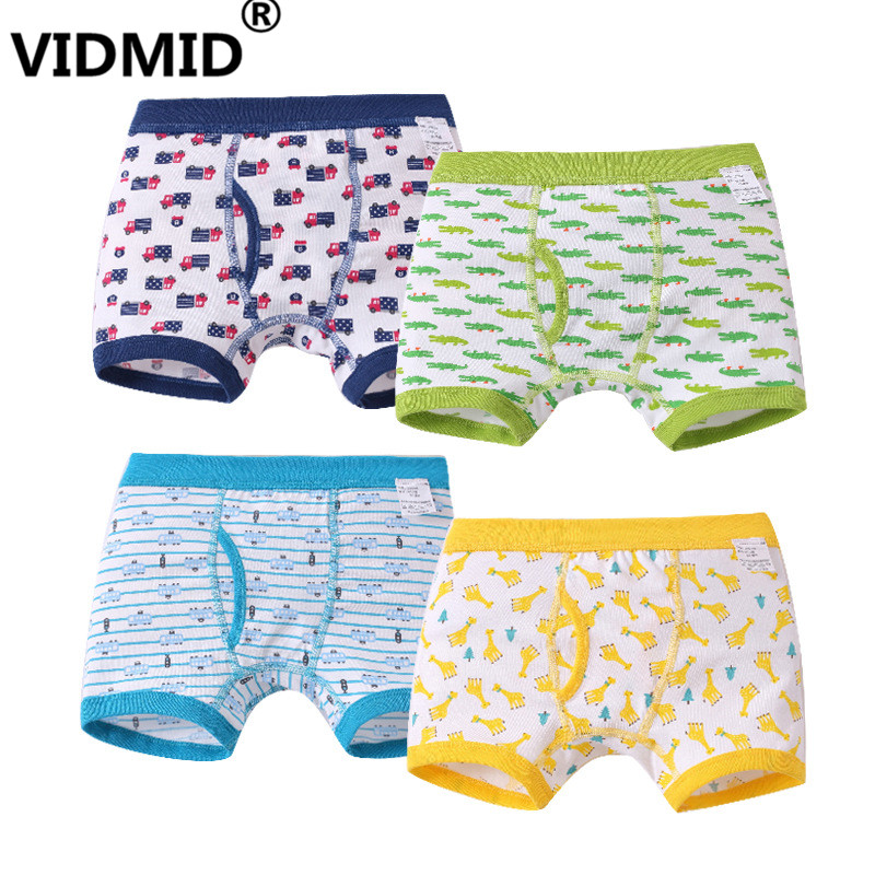 VIDMID Kids Cartoon Car Underwear Boys crocodile clothes Kids Boxer Children's   Panties   Soft Underpants Baby Briefs boxer 7010 90