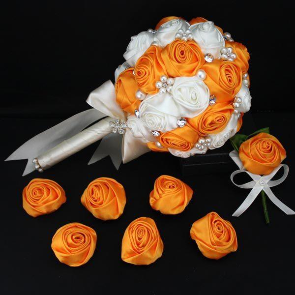 Желтый Горный Хрусталь Свадебные Букеты невесты Цветок Де Novia Mariage Искусственный Невесты Аксессуары