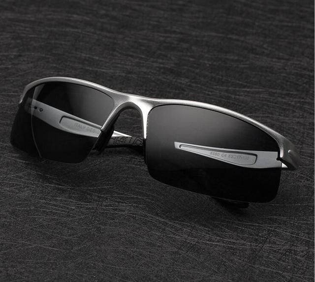 2016 De Alumínio e magnésio polarizada óculos de sol dos homens óculos de sol de luxo da marca designer sports óculos de sol óculos de condução espelho óculos de proteção UV400