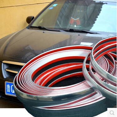 10mmx15m diy car decoration sticker chrome strip car