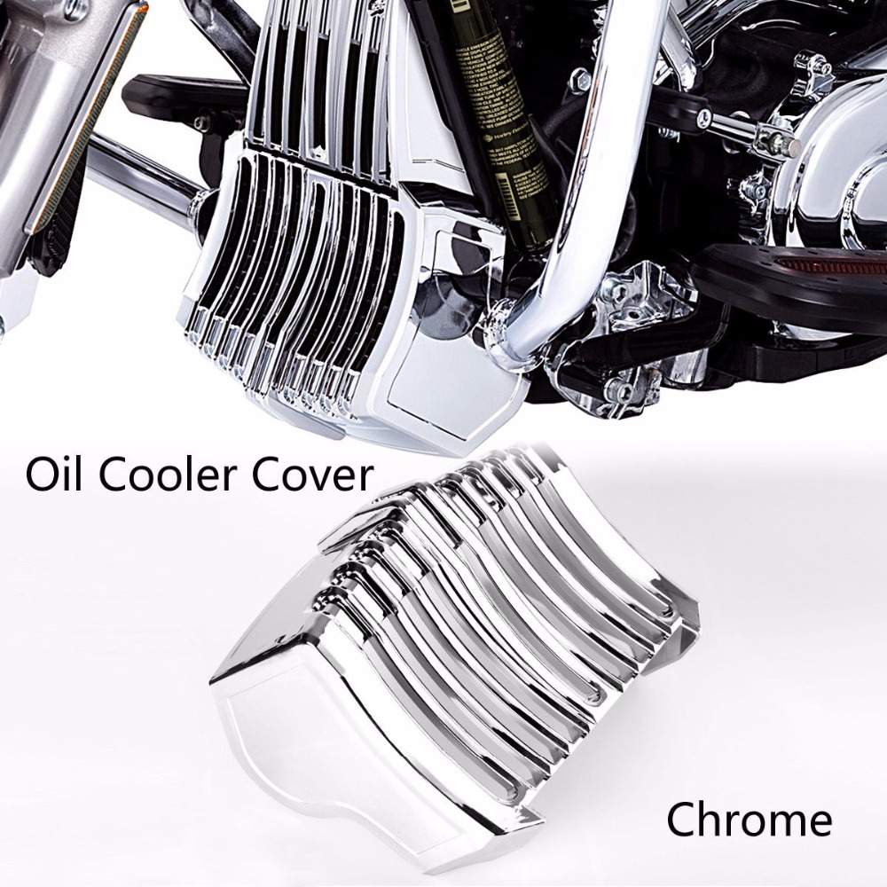 Motorcycle Black Stock Oil Cooler Cover For Harley Touring Electra glide Road king Street Glide