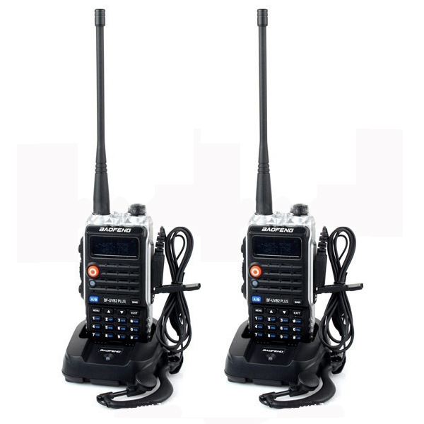 bilder für 2 Stücke 4800 mAh BaoFeng BF-UVB2 plus Radio transceiver Für long range wireless Walkie Talkie HAM Cb Radio uhf vhf Mobile in moskau