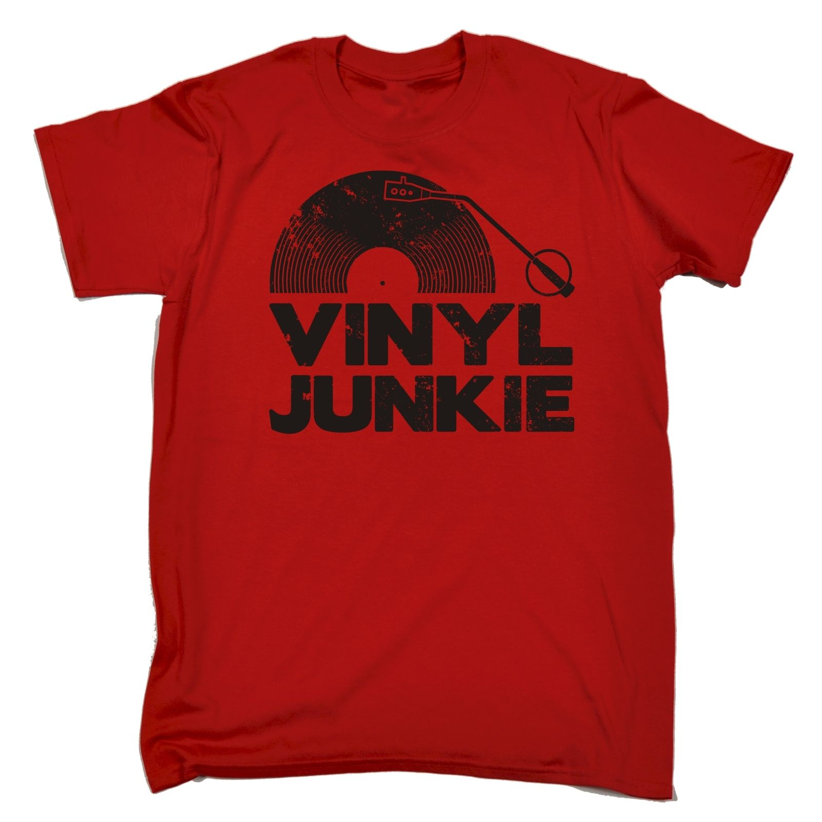 Vinyl Junkie T Shirt Tee Music Dj Record Funny Birthday Gift Present