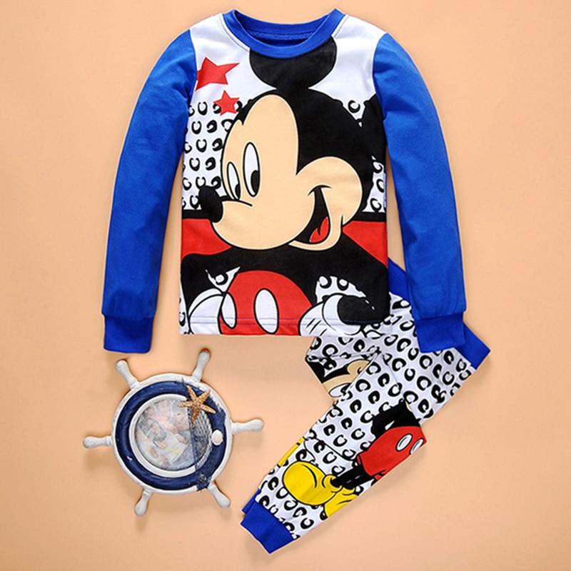 HOT Kids Clothes Children Clothing Set Toddler Kids Pajama Mickey Nightwear Baby Girl Boy Clothes Printing Pajamas Children 2Pc