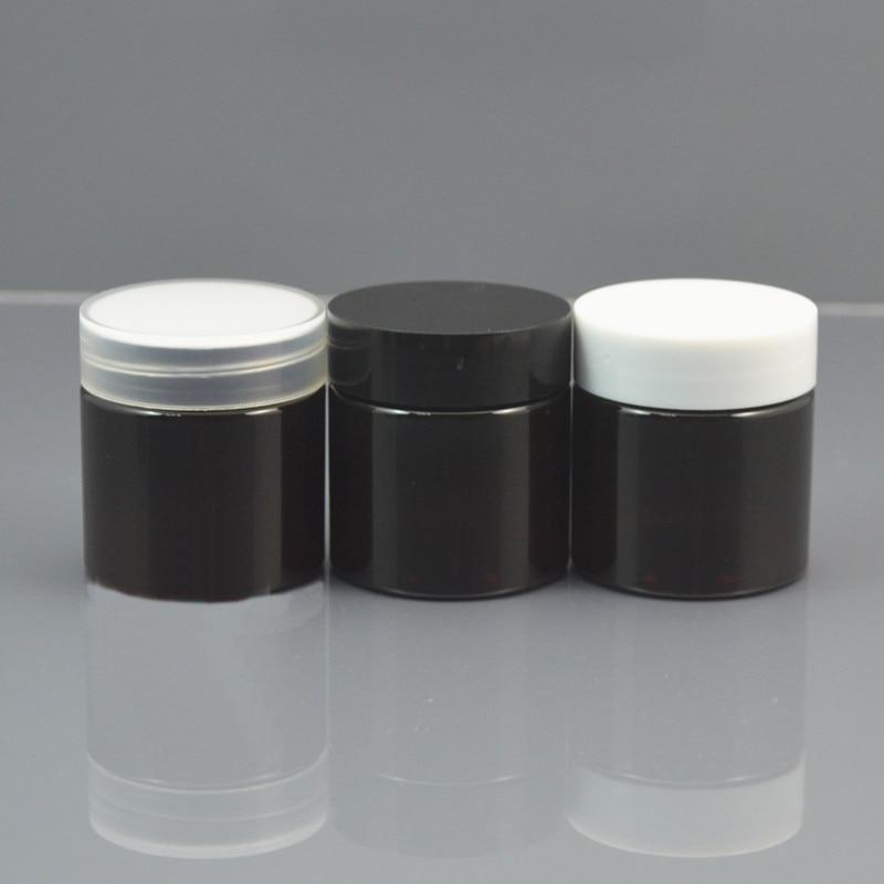 free shipping 10/30/50pcs/lot 30ml PET brown jar,white / transparent / black plastic cap.