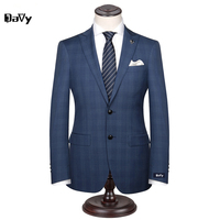 Custom Made Men S Wedding Suits Groom Tuxedos Jacket Pant Tie Formal Suits Business Causal Slim