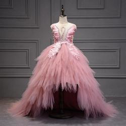 Chilldren/бальное платье, платье для первого причастия детское платье для торжеств, платье для дня рождения детское платье с цветами и бусинами ...
