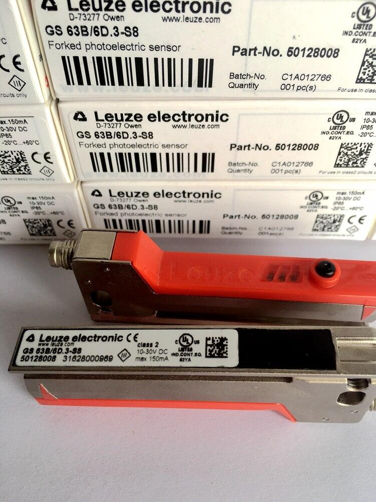 GS 63B/6D. 3-S8 50128008 capteurs de Code couleur LEUZE 100% nouveau Original GS 63/6D. 3-S8 50110105