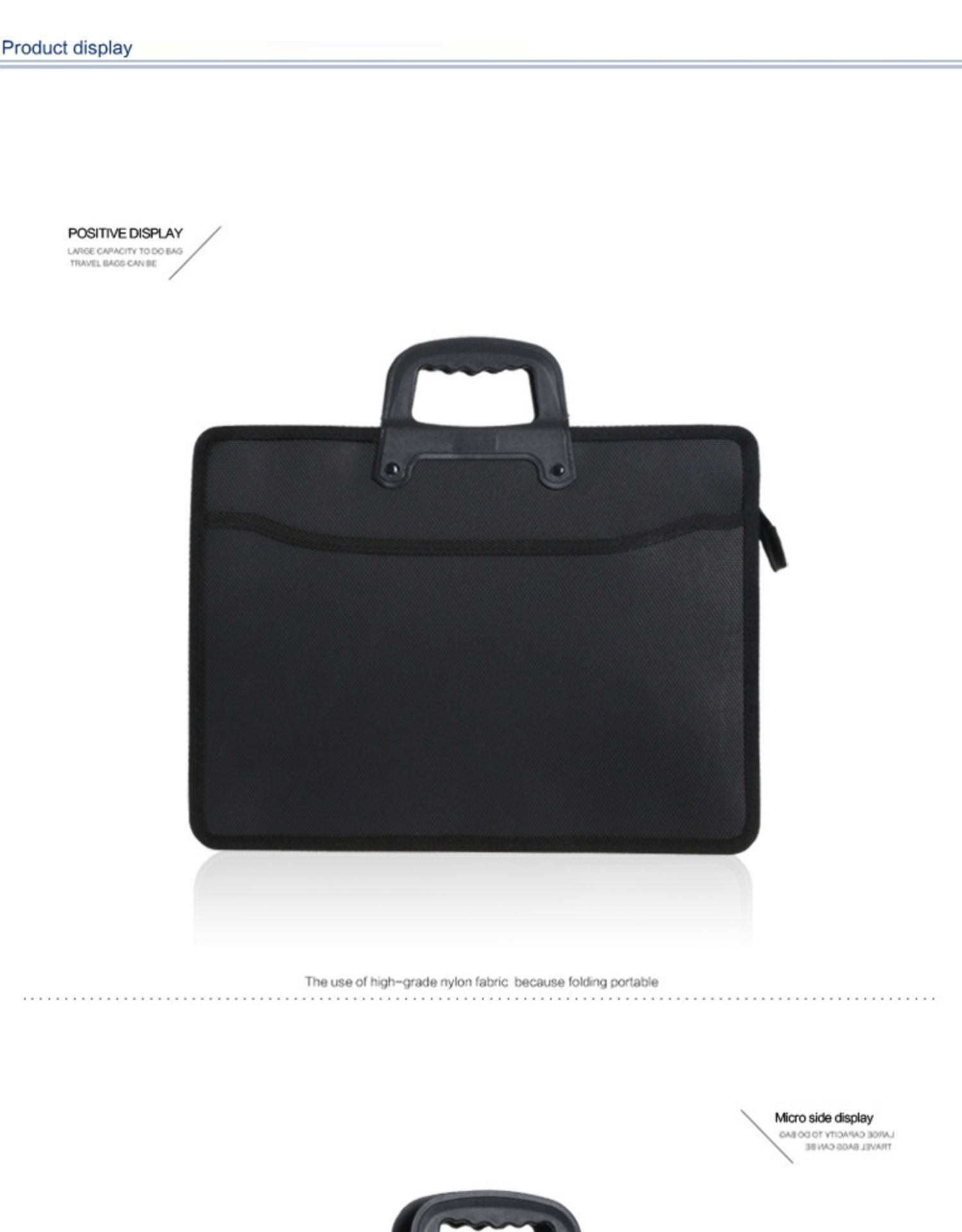 HTB1eul0XLWG3KVjSZPcq6zkbXXas Fashion file bag portable briefcase men business office bag trend package work bag file A4 conference bag Oxford waterproof