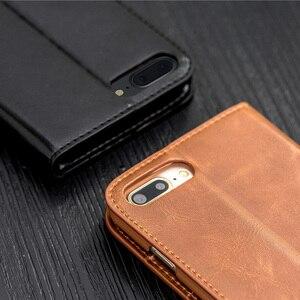 Image 3 - Musubo Cuero auténtico Flip caso 8 más para el iPhone 7 Plus funda cartera cubierta del soporte para el iPhone 6Plus 6s 5 5S se Carcasas funda iphone X carcasa iphone  8 Plus Case Cover Caque Capa