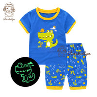 for Ali only Children Pajamas 2019 Boy Girl Summer Sleepwear Baby Nightwear Child Gift Kids Lovely Pyjamas Set Sleepers