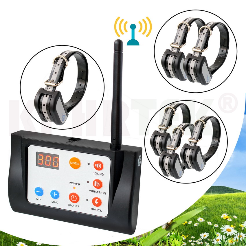 2 IN 1 Wireless Electronic Dog Fence System and Dog Training Collar Beep Shock Vibration Training