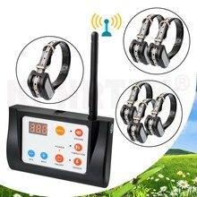 2 в 1 беспроводной электронный забор для собак система и ошейник для дрессировки собак звуковой сигнал Шок Вибрация тренировка и забор функция 27g9