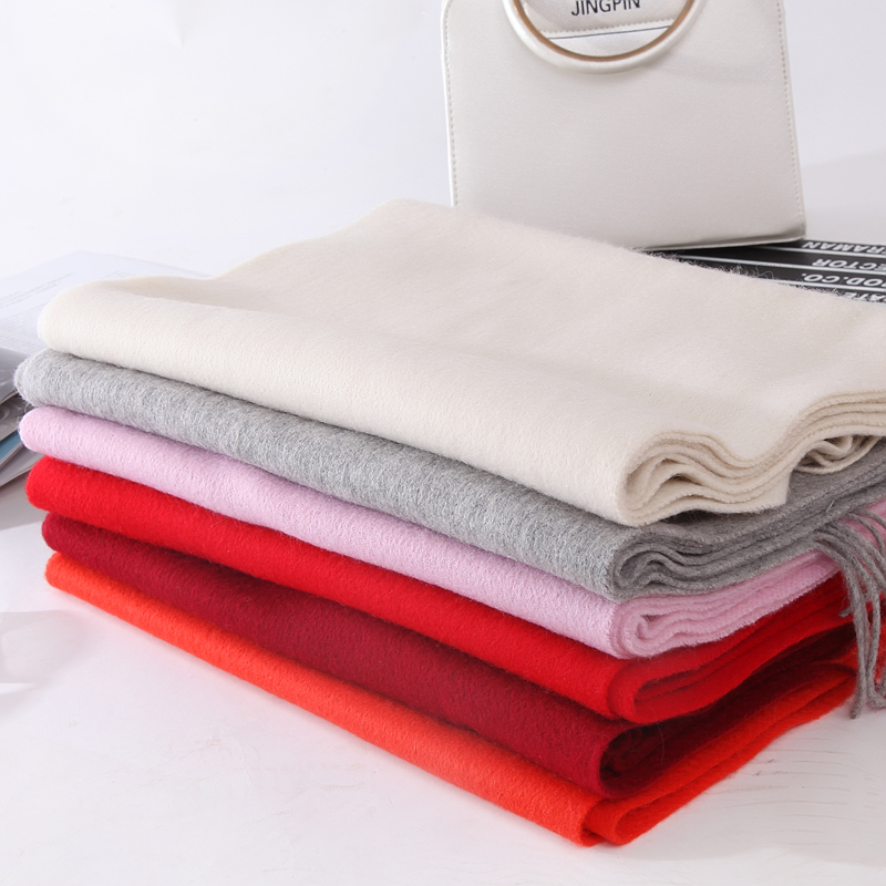 100% Cashmere Shawl and   Scarves   Winter Pashmina Tassel Wool Brand   Wrap   Fashion Solid Blanket Pashmina   Wrap   Thicken Warm   Scarves