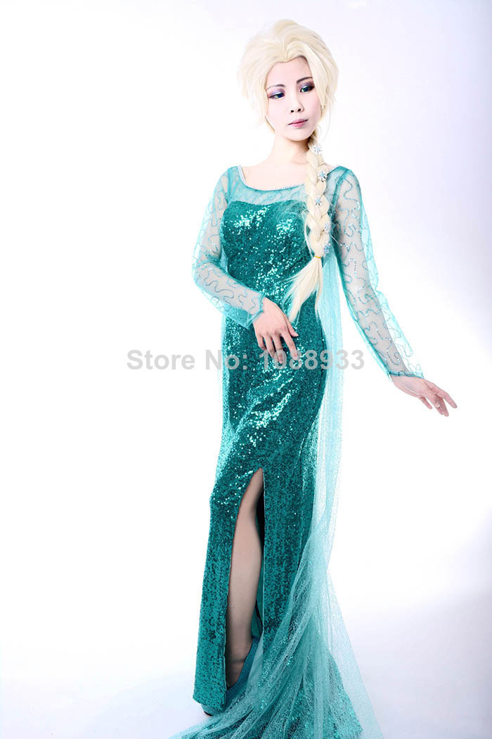 Frozen costume adult Snow Queen Elsa Costume Princess Elsa cosplay halloween costumes for women fantasy women plus size custom-in Anime Costumes from ...  sc 1 st  AliExpress.com & Frozen costume adult Snow Queen Elsa Costume Princess Elsa cosplay ...