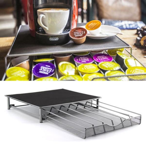 Hot Sales 36Cups Coffee Capsule Pod Holder Storage Stand Drawer Rack Convenient Kitchen  ...