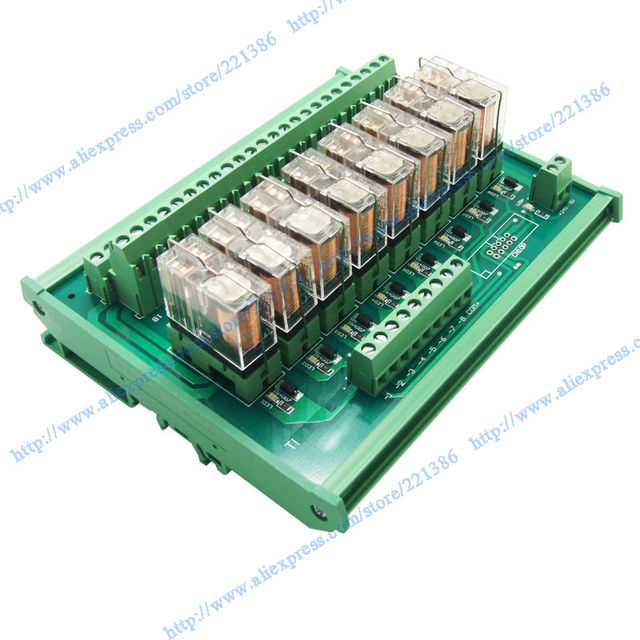 1pc 8 Channels 5a 24v Omron Relay Module Driver Board