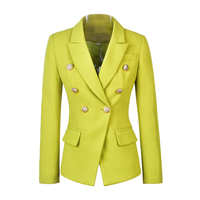2019 New Arrival High Quality Street Style Double Breasted Buttons Solid Color Fashion Blazers Slim Women Blazer