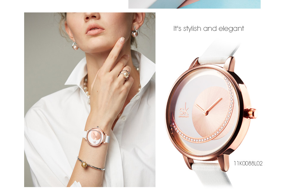 SK Shengke Rhinestone Watches For Women Brand Ladies Quartz Wrist Watch Reloj Mujer 2019 Luxury Stainless Steel Women Watch xfcs (7)