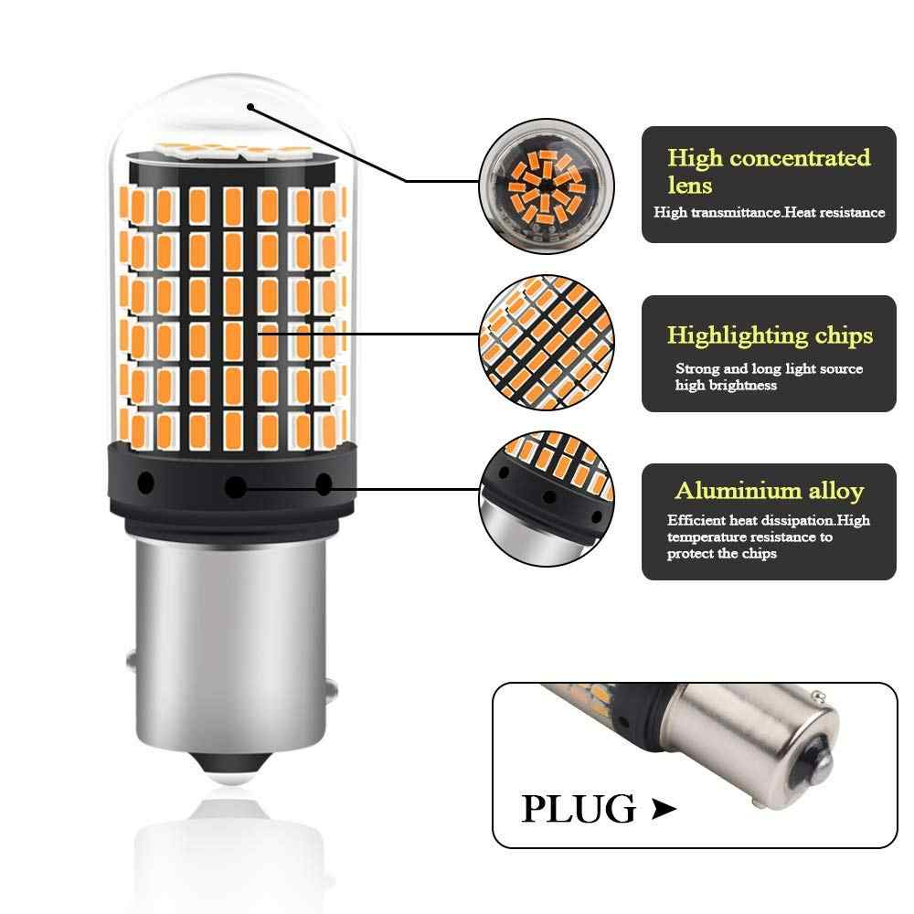 1 шт. 1156 BA15S P21W BAU15S PY21 светодиодный лампы 3014 144smd светодиодный CanBus без ошибок T20 7440 W21W светодиодный светильник для поворотов светильник при отсутствии флэш-памяти