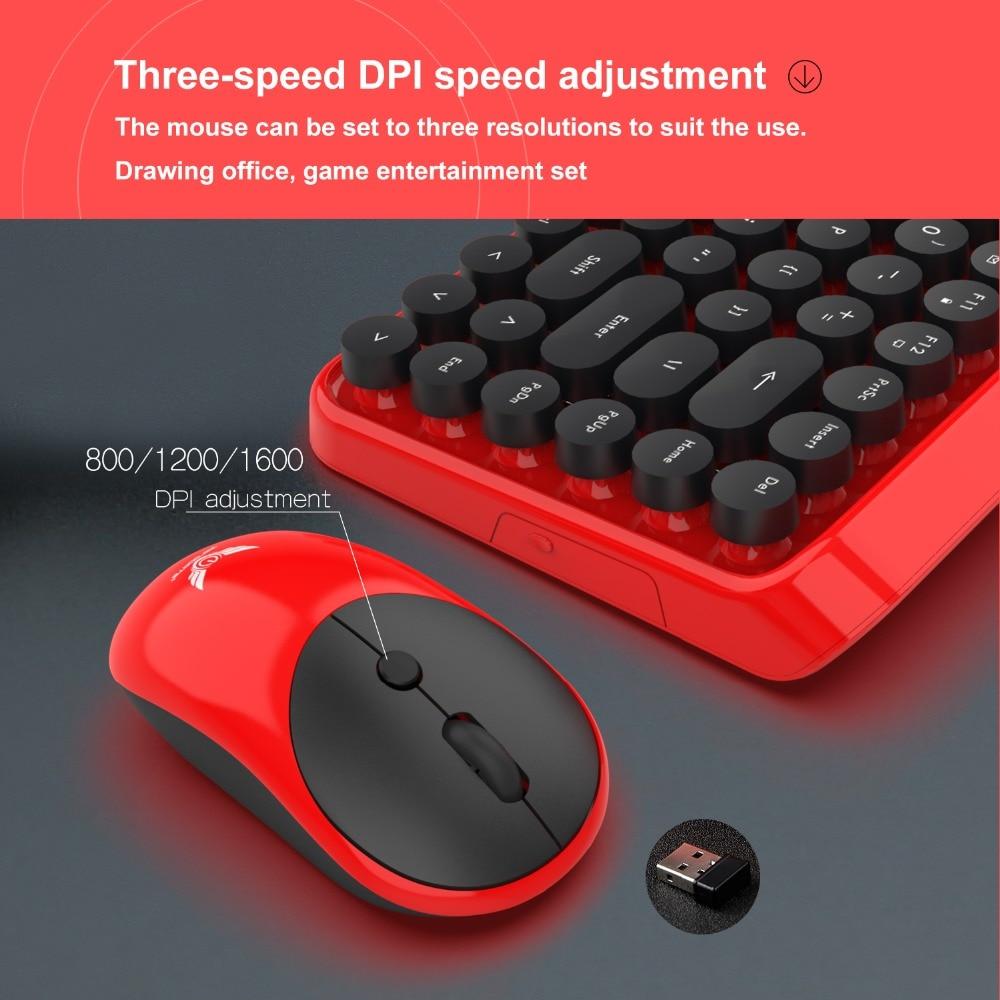 The New 2.4 G Wireless Keyboard Suit Wireless Keyboard Mouse 3 File DPI Adjustable Office Wireless Keyboard
