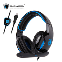 SADES SNUK Professional Virtual 7.1 Surround Sound Gaming Headset Headphone Headphones Wired E-Sport sades sa 708 wired hi fi gaming headset headphone w microphone white grey red 3 5mm plug