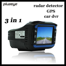 (with Russian Voice) 3 in 1 HD Car DVR Full Band Radar Detector GPS Logger 720P Car Camcorder Hidden Dash Cam Video Registrator