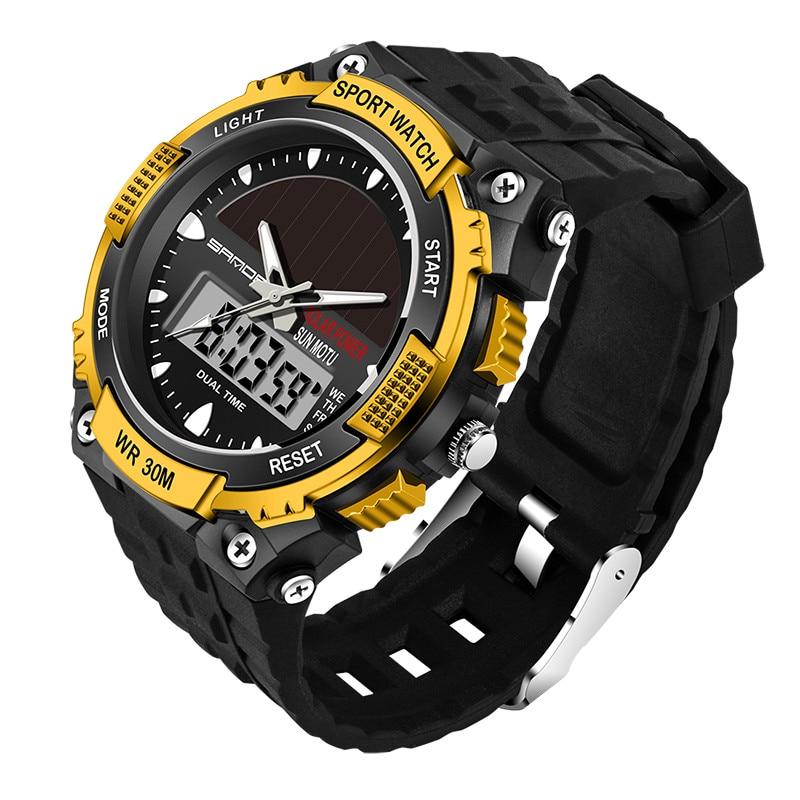 SANDA ηλιακό ρολόι ανδρών ρολόι - Ανδρικά ρολόγια - Φωτογραφία 5