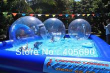 water sphere running inside rolling human hamster ball agua bola