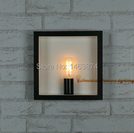 ФОТО Frame shop cafe corridor wall lamps hanging lamps, iron materials,E27, AC110-240V