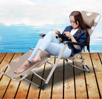031422 4in1 Folding Chairs Beach Chairs Portable Camping Bed For Outdoor Lodging Bed Reclining Chair For