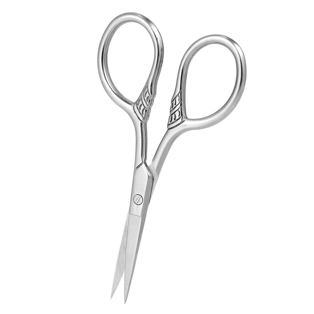 Stainless Steel Beard Trimmer Scissor Mini Size Shaving Shear Beard Trimmer Eyebrow Bang Cutting Scissor for Barber Home Use 5