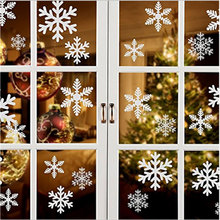 2Pcs NEW Christmas Decorative Decal Window Stickers Xmas Glass Merry Snowflake Home Decor
