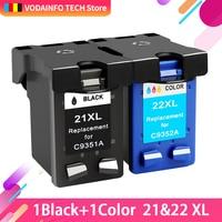 QSYRAINBOW совместимый 21 черный цветной чернильный картридж Замена для HP 21 22 HP21 для Deskjet F2280 F4180 F4100 F2100 F2200 F300