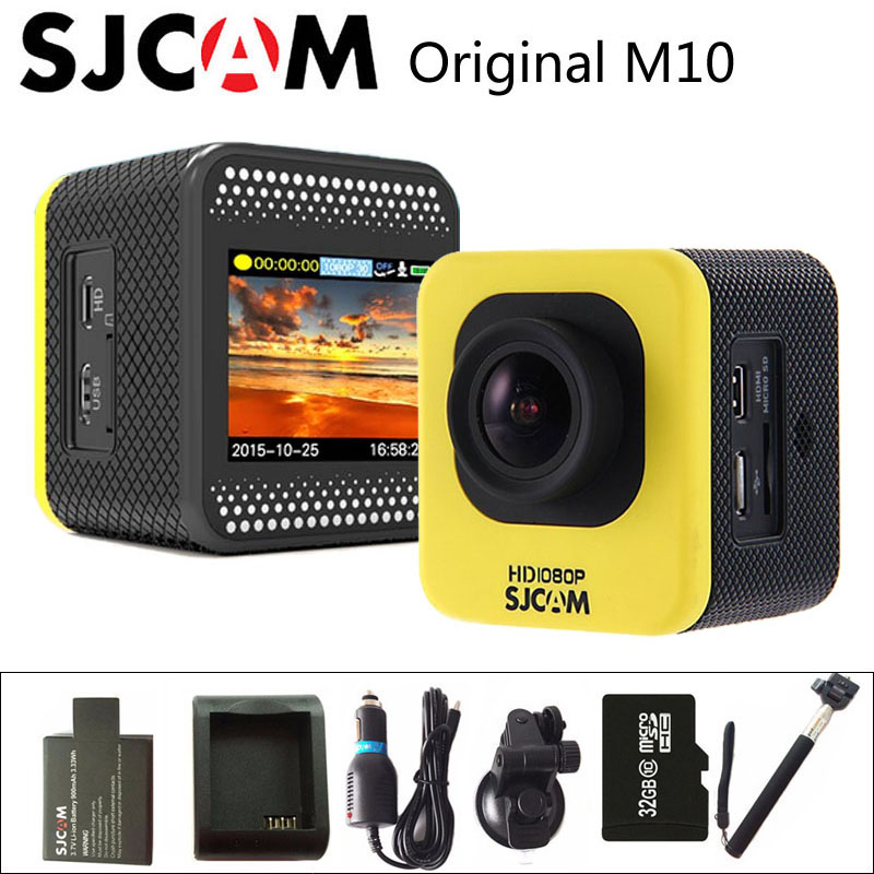 цена на In Stock! Original SJCAM M10 Sport Action Camera Full HD 1080P Diving 30M Waterproof Camera DVR Camcorder M10 Sports DV Cam