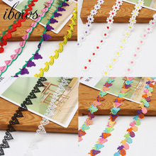IBOWS 1yard Lace Webbing Decoration Handmade Packing Material For DIY Sewing Supply Cloth Accessory HomeTextile