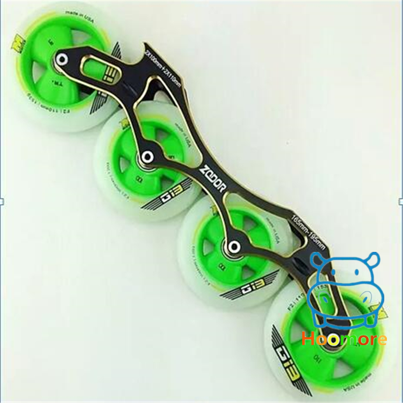 цены MATTER G13 F1 Pink Green Yellow Speed Skating Wheel+ZODOR CNC Inline Skates Frame+ILQ 11/ Ceramic 608 Bearing Free Shipping