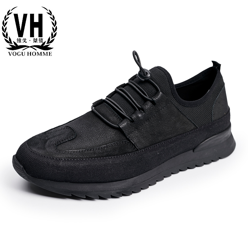 The new trend of Korean sports leisure shoes men breathable Leather Vintage men Casual shoes for young men the fall of new men s casual shoes leather trend of korean youth all match low men shoes
