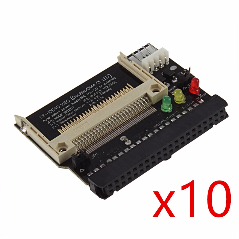 все цены на 10pcs Adapter Converter Compact Flash CF to 3.5 Female 40 Pin IDE Bootable Card New Free / Drop Shipping онлайн