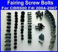 TUD Fairing common screws bolts for Honda CBR600 F4I 2004 2005 2006 2007 CBR 600 F4I 04-07 aftermarket black fairings bolts scre