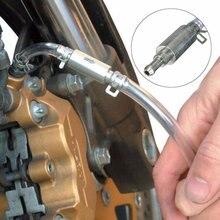 Автомобильный мотоцикл тормозной Bleeder сцепление кровотечение инструмент для шлангов комплект односторонний клапан и трубка стайлинга автомобилей