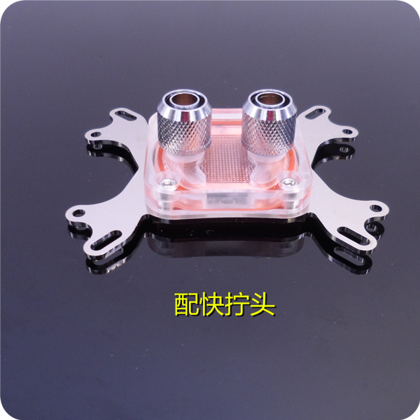 For AMD Intel computer CPU water cooling head block radiator General version transparent heat sink thermalright le grand macho rt computer coolers amd intel cpu heatsink radiatorlga 775 2011 1366 am3 am4 fm2 fm1 coolers fan