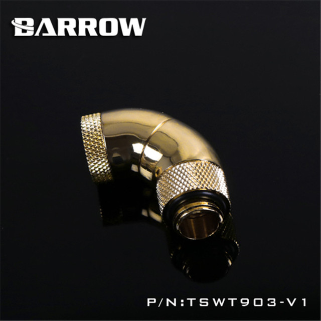 Barrow 360 degree Rotary Fitting 180 degree Snake 3-way Rotary Adapter (Male to Female ) for computer water cooling TSWT903-V1