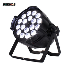 6pcs/lot 18x18W 6in1 RGBWA+UV LED Stage Light LED Par Can With DMX512 Flat DJ Equipments Controller Fast&Free Shipping цена 2017