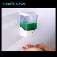 Soap Dispenser Battery Powered 600ml Wall Mount Automatic IR Sensor Touch free Kitchen Soap Lotion Pump for Kitchen Bathroom