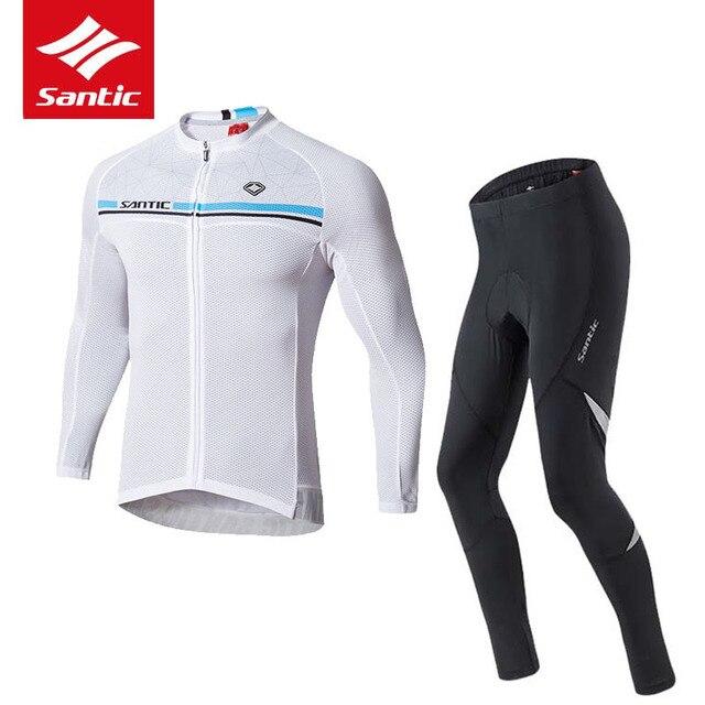Santic Cycling Jersey Set 2019 Pro Team Men Bike Bicycle Jersey Cycling Set 4D Pad Tour de France Cycling Clothing Ropa Ciclismo